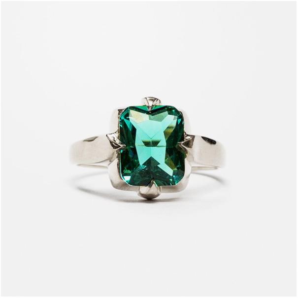 Кольцо Glowing Sky Square turquoise silver