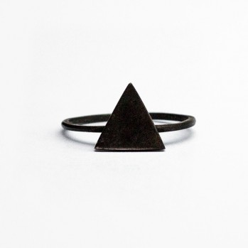Black Triangle Ring