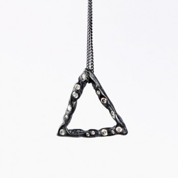 Black triangle necklace №10