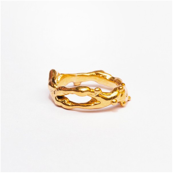 Gold bullion ring